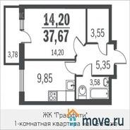 фото 1комн. квартира Санкт-Петербург ул. Парашютная